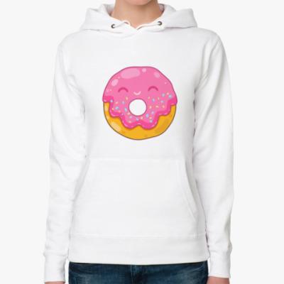 Женская толстовка худи Donut