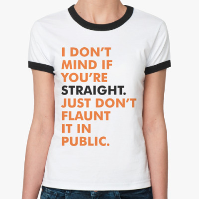 Женская футболка Ringer-T Straight