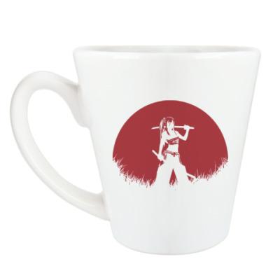 Чашка Латте Аниме самурай