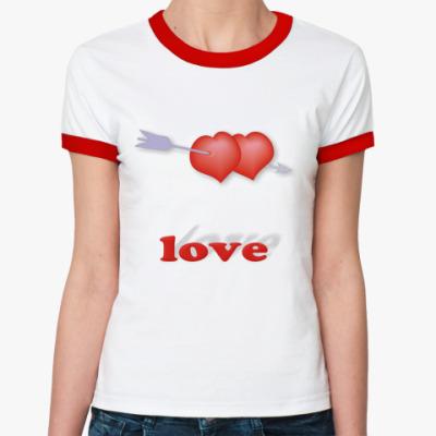 Женская футболка Ringer-T Дуплет