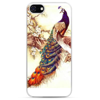 Чехол для iPhone Красивый павлин