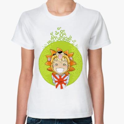 Классическая футболка  Мальчик-львёнок