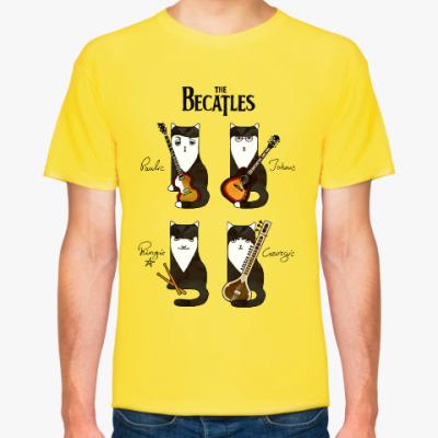 Футболка Котики-музыканты, похожие на The Beatles