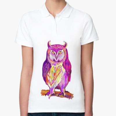 Женская рубашка поло Призрак ночи