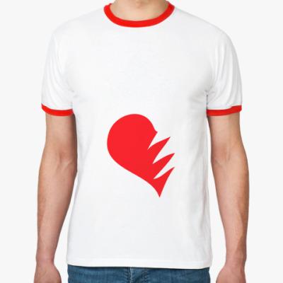 Футболка Ringer-T Сердце на двоих