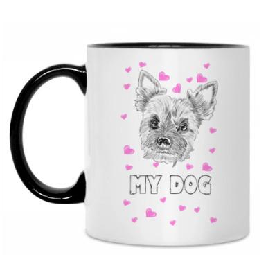 Кружка Love my little dog