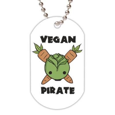 Жетон dog-tag Веган пират