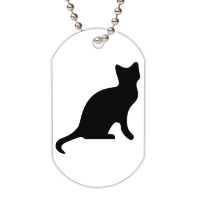 Жетон dog-tag Кошка
