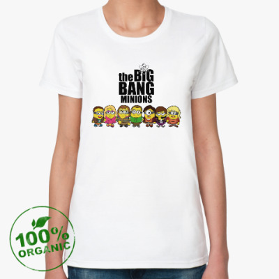 Женская футболка из органик-хлопка Теория большого взрыва
