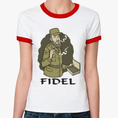 Женская футболка Ringer-T Fidel