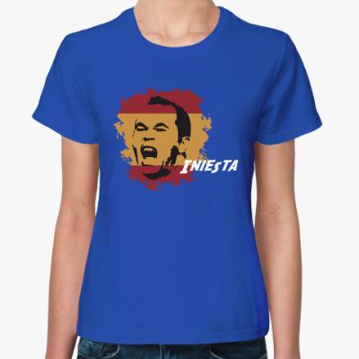 Женская футболка Иньеста