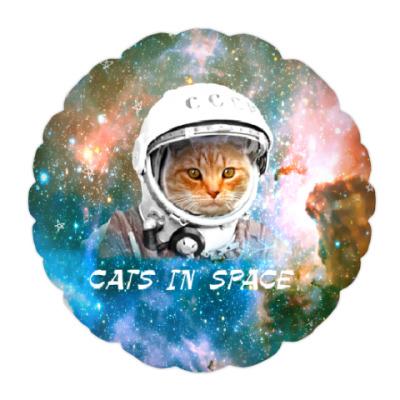 Подушка котейка космонавт