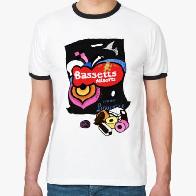 Футболка Ringer-T  Bassetts