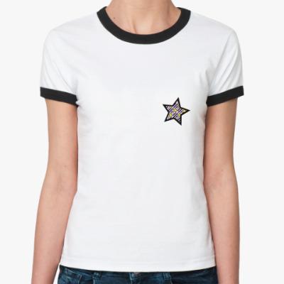 Женская футболка Ringer-T звездочка