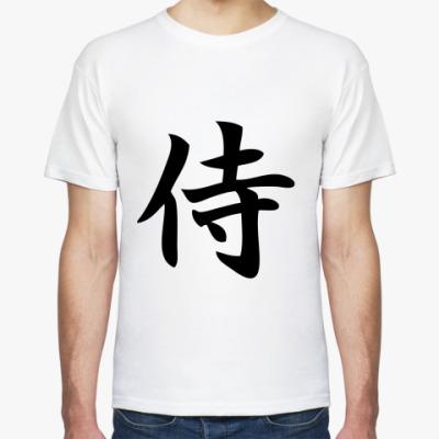 Футболка иероглиф самурай
