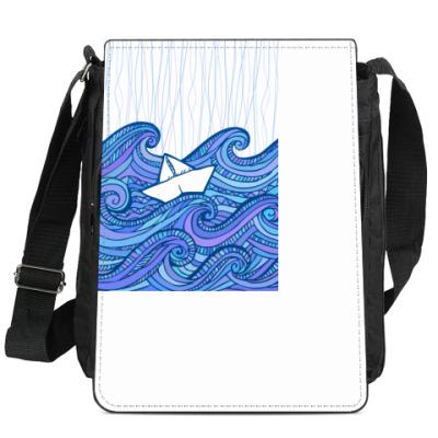 Сумка-планшет Маленький бумажный кораблик
