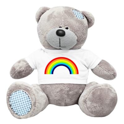 Плюшевый мишка Тедди Мишка радужный