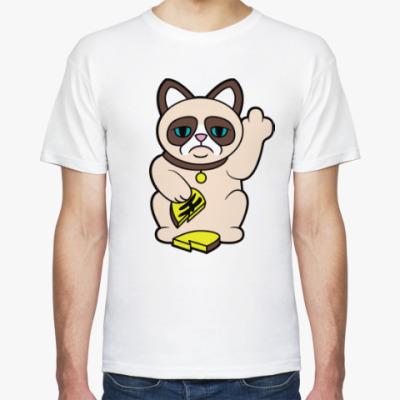 Футболка Tard Grumpy Cat Maneki Neko