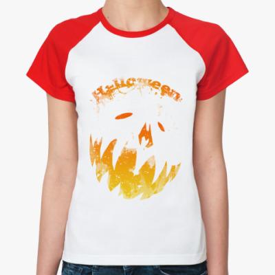 Женская футболка реглан Helloween  Ж (б/к)
