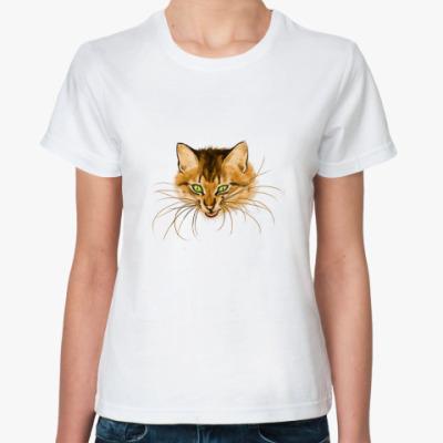 Классическая футболка 'Упрямая кошка'