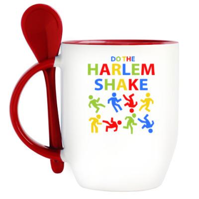 Кружка с ложкой Harlem Shake