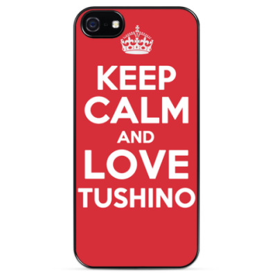 Чехол для iPhone Keep Calm and Love Tushino