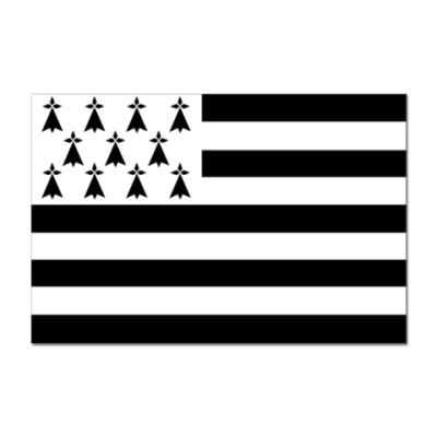 Наклейка (стикер) Флаг Бретани