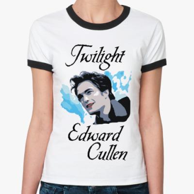 Женская футболка Ringer-T Edward Cullen