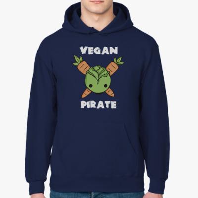 Толстовка худи Веган пират