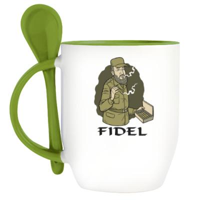 Кружка с ложкой Fidel