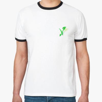 Футболка Ringer-T  'Веган'