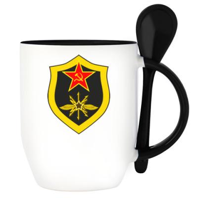 Кружка с эмблемой радиотехнических войск