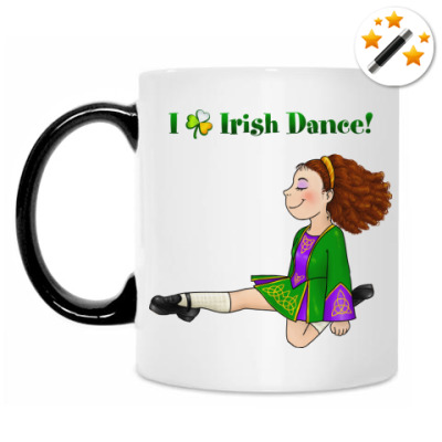 Кружка-хамелеон Irish dance