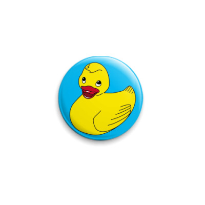 "Значок 25мм  ""Rubber duck"" #1"