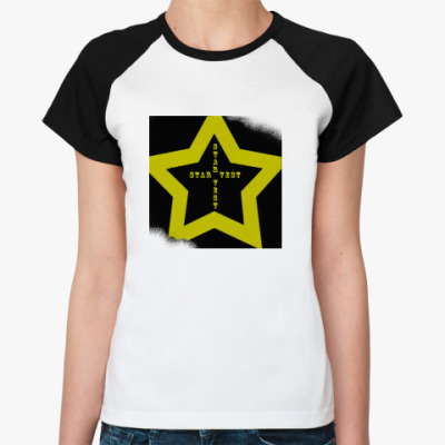 Женская футболка реглан  Star Vest