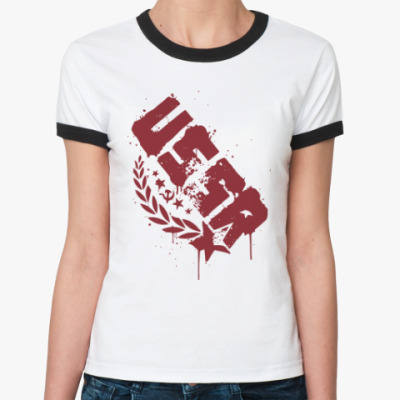 Женская футболка Ringer-T USSR