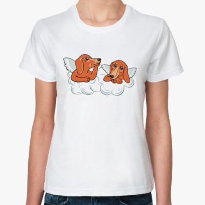 Классическая футболка Таксы-ангелы