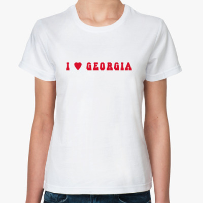 Классическая футболка  'I love Georgia'