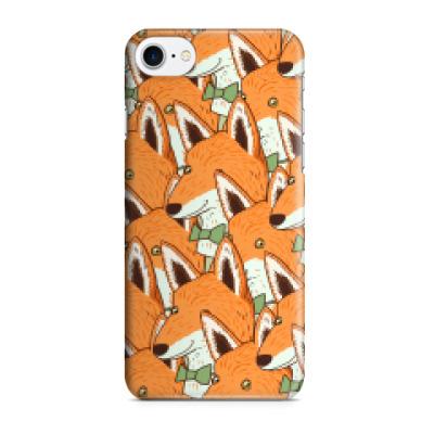 Чехол для iPhone 7/8 Любовь к лисичкам