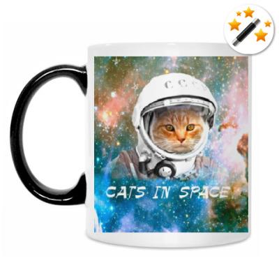 Кружка-хамелеон Кот в космосе