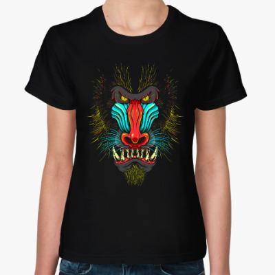 Женская футболка Бабуин