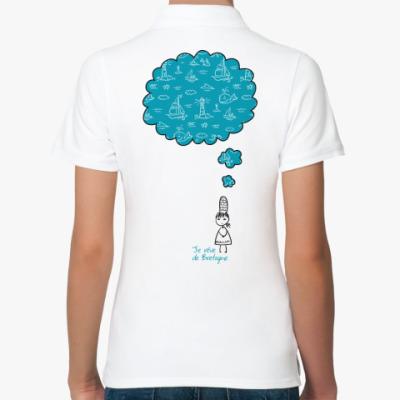 Женская рубашка поло Мечтаю о Бретани