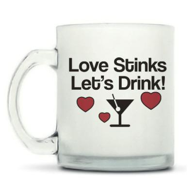 Кружка матовая Love Stinks