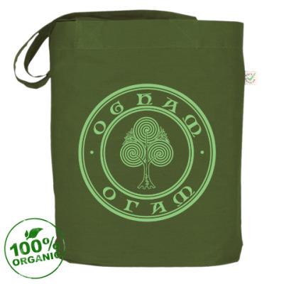 Сумка Сумка Ogham-logo, темно-зелёная