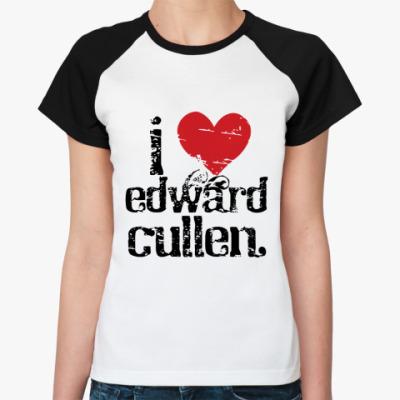 Женская футболка реглан I love EC