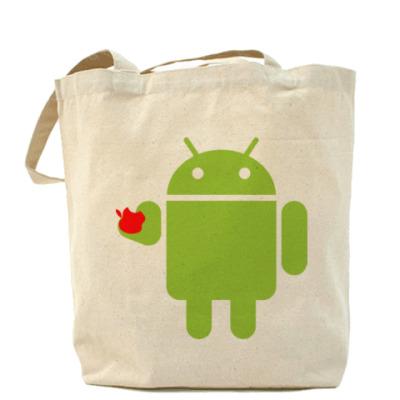Сумка Андроид с яблоком
