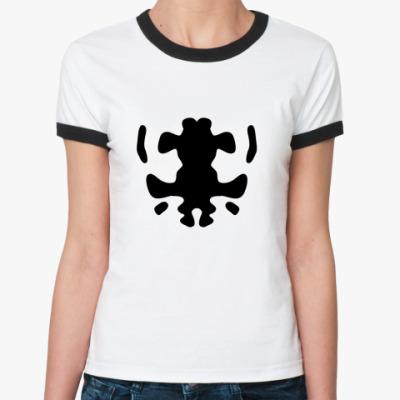 Женская футболка Ringer-T  Rorshah
