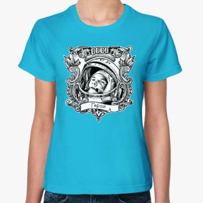 Женская футболка  Гагарин