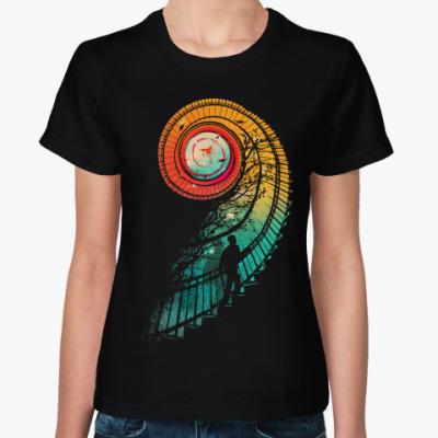Женская футболка Длинный путь