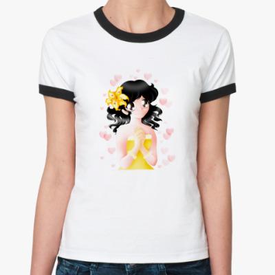 Женская футболка Ringer-T   Love you